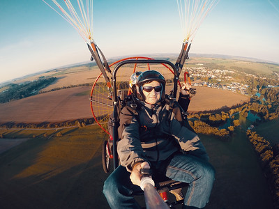Powered paragliding tandem flight