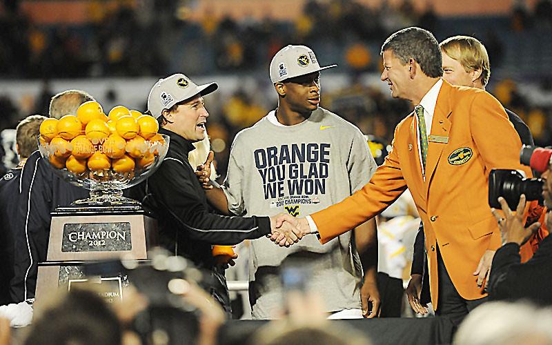 ORIGINAL - Orange Bowl trophy presentation, posted Jan. 5, 2012 - photo by Dale Sparks