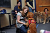 26669a108 ORIGINAL: June 4, 2010 — WVU students are learning animal training techniques while also helping to change the lives of people with disabilities. Through Davis College Animal and Veterinary Science courses, students work with Hearts of Gold Service Dogs, a local non-profit that trains service dogs for people with mobility impairment or post-traumatic stress disorder.