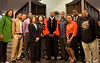 Following the path of Dr. Martin Luther King Jr.'s life, WVU students and faculty made an unforgettable journey across the South, starting at Atlanta's Ebenezer Baptist Church where Dr. King was co-pastor with his father. Here, group members meet current pastor Rev. Raphael G. Warnock following the church's 123rd anniversary celebration. <br /> Photo from Marjorie Fuller (spring 2009)