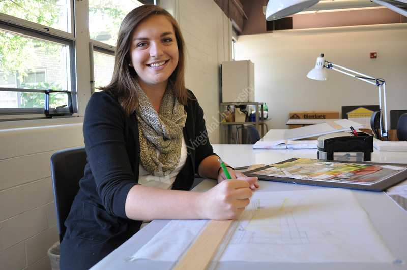 ORIGINAL - Maria Belcher, interior design student who created the WVU tartan