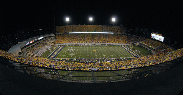 "BUCKET - 2010 - Morgantown becomes the state's biggest city on WVU football game days, but even when the Mountaineers aren't playing, residents wear gold and blue like a permanent badge of pride. For its dedication to the Mountaineers, Morgantown is listed as one of eight of ""America's Top College Football Towns"" by Budget Travel."