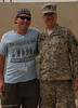 ORIGINAL - Submitted by student veteran Jaeson Parsons. This photo is from his trip to the Middle East promoting The Graffiti of War Project. He's pictured with SFC Oliverio from the WV National Guard.