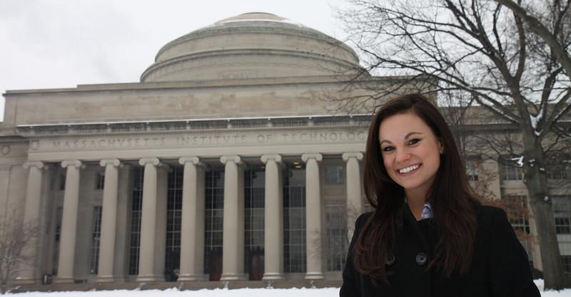 ORIGINAL: Engineering grad Emily Calandrelli at MIT. Submitted photo by Kento Masuyama