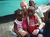 ORIGINAL: Submitted photo. Julian Bergstein volunteering at Liberian refugee camp in Ghana.