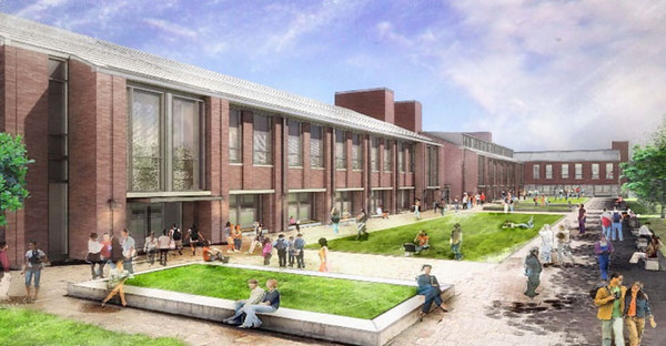 BUCKET - 6/17/11 - Artist's rendering of new CPASS building to be built on the Evansdale campus.