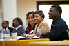 Participants for the 2012 Minority Colloquium for doctoral students listen to the panel in the Mountainlair Ballroom on October 8, 2012.