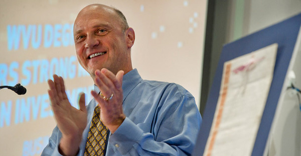 27134A0030 BUCKET: Oct. 2010 - At his annual State of the University address at Faculty Assembly, WVU  President James Clements introduced a proposed Strategic Plan for the  Future. The plan was developed with input from across the campuses and  highlights priorities for the University.