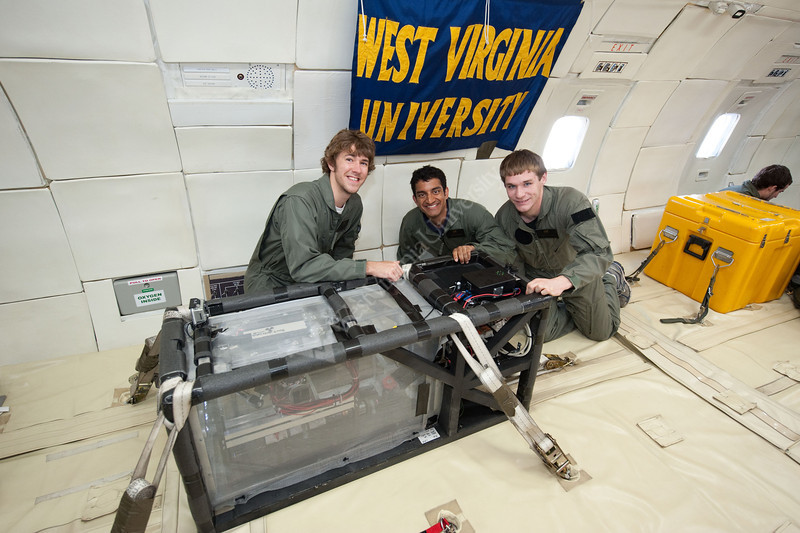 Date: 06-09-11<br /> Location: Ellington, 990<br /> Subject:Reduced Gravity Office's Education Student Campaign Flight Week: June 6-10.  Flight 2<br /> Photographer: James Blair
