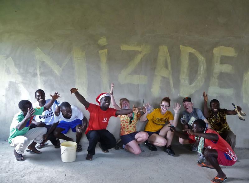 ORIGINAL - Jan. 25, 2011 - Through an Amizade Global Service-Learning program, several WVU students spent winter break helping the people of Jukwa, Ghana. Photo courtesy of Brandon Blache-Cohen of Amizade - brandon@amizade.org