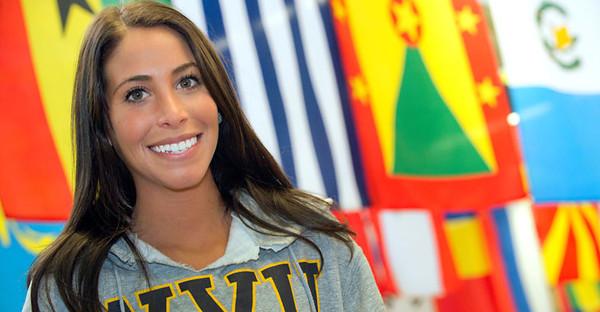 BUCKET - Dec. 7, 2011 - Allie Wildstein, a participant in the Global Culture Series, original = 28008s0026xx