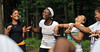 BUCKET: July 16, 2010 &mdash Incoming  freshmen in the STARS (Students Achieving and Reaching for Success)  program play a team-building game at the WVU Challenge Course. A  five-week academic and social program, STARS develops leadership  potential, introduces resources available to minority students, and  creates a supportive community for new African American students.