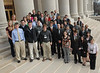 ORIGINAL - (used with permission from Daily Mail) Students from WVU who attended Undergraduate Research Day are photographed outside on the statehouse steps.  Charleston Daily Mail/Craig Cunningham 1/25/11