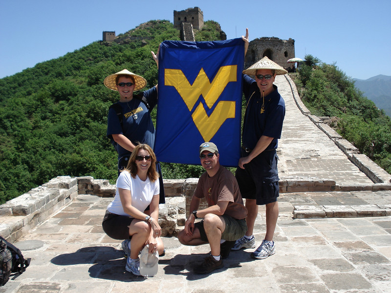 ORIGINAL - Flying WV on China's Great Wall. Submitted by David Pack.
