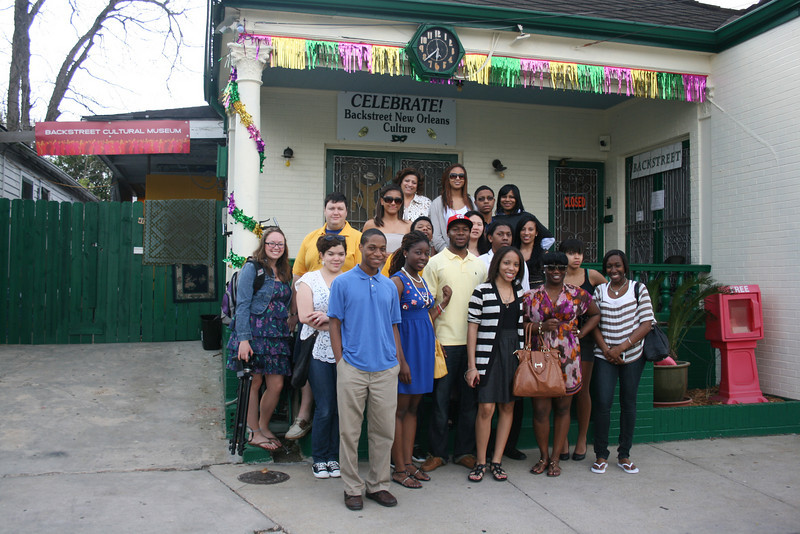 ORIGINAL: 2011 New Orleans spring break trip sponsored by Center for Black Culture and Research. Submitted photo from Marjorie Fuller and Yan ZHao, CBC&R