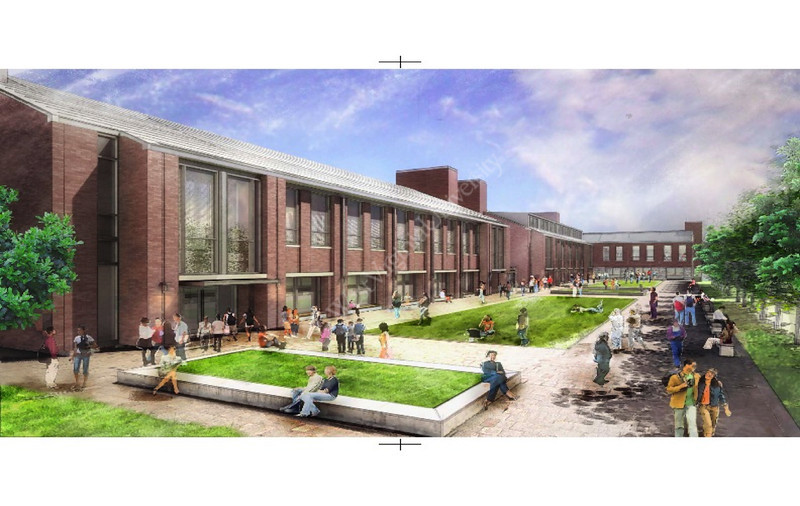 ORIGINAL - artist's rendering of new CPASS building on Evansdale campus