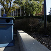 Recycling bins stand outside the Mountainlair on 10-19-2009.  Photo by Scott Lituchy / WVU
