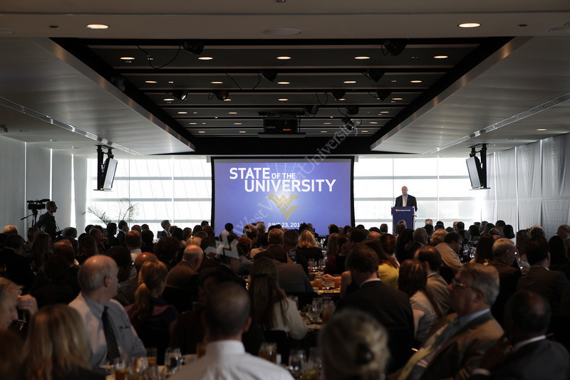 WVU President James P. Clements delivers the State of the University address at the Newseum in Washington DC.  6/23/2010 Photo by Scott Lituchy/WVU