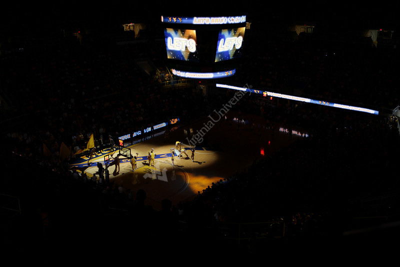 The WVU mens basketball team is introduced before their game against Oakland.  11-12-/2010 Photo by Scott Lituchy/WVU