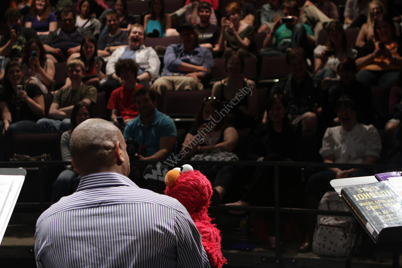 Kevin Clash, the master puppeteer behind Elmo, visits WVU to talk to students in the puppetry program. Later in the day he presented the annual Dan and Betsy Brown Lecture at the Met Theater.4/15/2011 Photo by Scott Lituchy/WVU