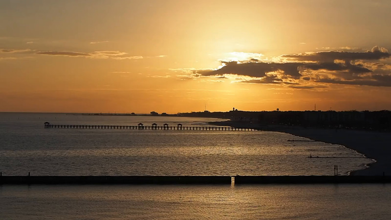 Gulfport Beach at Sunset