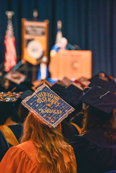 Photos from December Commencement in 2018. Photos by Kallie Nealis.