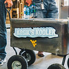 """Associate Vice President of Facilities and Services, Jamie Kosik spent a hot summer day bringing """"Kosik's Kooler"""" and cold refreshments to facilities worker on Jun. 28, 2019. Photo by Kallie Nealis."""