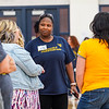 Talent and Culture employees engage in teambuilding activities during their annual BOLD Day on Oct. 10, 2019. Photo by Kallie Nealis.