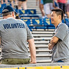 Volunteers at Monday Night Lights on Aug. 19, 2019. Photo by Kallie Nealis.