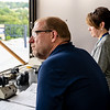 Bill Nevin and Sharon Martin watching the events from the Press Box at Monday Night Lights on Aug. 19, 2019. Photo by Kallie Nealis.