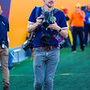 Chris Young shooting photos during the Homecoming football game against Texas on Oct. 5, 2019. Photo by Kallie Nealis.