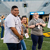 Jihad Dixon and Rachel Daw were in high spirits while volunteering at Monday Night Lights on Aug. 19, 2019. Photo by Kallie Nealis.
