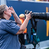 Jenny Shephard capturing action shots during the matchup against James Madison on Aug. 31, 2019. Photo by Kallie Nealis.