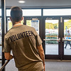 Nick Haas volunteering at MovieFest on Aug. 18, 2019. Photo by Kallie Nealis.