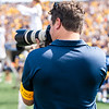 Andrew Sealy taking action shots of the crowd during the matchup against James Madison on Aug. 31, 2019. Photo by Kallie Nealis.