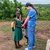 Undergraduate and graduate students of Global Medical and Dental Brigades administer health clinics to children and adults,  assisting with medical and dental care with the help of doctors in May 2019. Photo by Kallie Nealis.