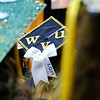 A decorated graduation cap at the Eberly College of Arts and Sciences graduation ceremony on May 12, 2019. (Photo Chris Young)