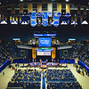 A wide view of the Eberly College of Arts and Sciences graduation ceremony on May 12, 2019. (Photo Chris Young)