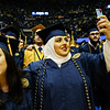 Graduates sing Country Roads at the end of the Eberly College of Arts and Sciences graduation ceremony on May 12, 2019. (Photo Chris Young)