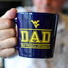 A WVU Dad mug for Father's Day, June 6, 2019. Photo: Geoff Coyle