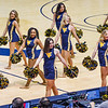 Dance team members perform during a timeout at the men's basketball game facing OK State on Feb. 18, 2020. Photo by Kallie Nealis.