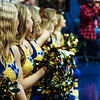 Dance Team members cheer along the sideline at a women's basketball game on Jan. 15, 2020. Photo: Kallie Nealis.