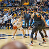 Sean McNeil looks to pass at the men's basketball game facing OK State on Feb. 18, 2020. Photo by Kallie Nealis.