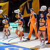 Cheerleaders during pregame at the men's basketball game facing OK State on Feb. 18, 2020. Photo by Kallie Nealis.