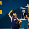 A member of the WVU Dance Team cheers on the Mountaineers during their home game vs Kansas State, Oct. 31, 2020. Photo: Corbin Mills