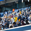 Masked WVU fans cheer on the Mountaineers during their home game against Kansas State, Oct. 31, 2020. Photo: Corbin Mills