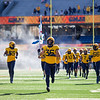 The WVU football team takes the field prior to their home game against Kansas State, Oct. 31, 2020. Photo: Corbin Mills