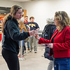 Lisa Sharpe passes out cupcakes and valentines in the Mountainlair with fellow Strategic Initiatives leaders on Feb. 14, 2020. Photo by Kallie Nealis.