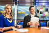 Photos from WVU News taping on February 26, 2020 in their studio at One Waterfront Place in Morgantown, WV. Photos by Alex King