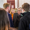 President Gee speaking with proespective students at WVU Day at the Legislature in Charleston, WV on Jan. 21, 2020. Photo: Kallie Nealis.